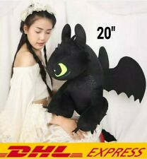 """20"""" TOOTHLESS How to Train Your Dragon 3 DreamWorks Movie Doll Plush Toys Gift"""