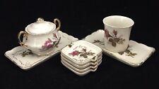 Vintage Porcelain 4 small trays 2 Trays Sugar Bowls & Mug Flower design