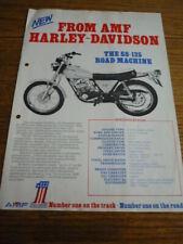 HARLEY DAVIDSON SS 125, 175 AND 250 BROCHURE