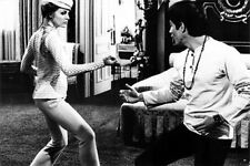 1960s Sharon Tate with Bruce Lee movie set replica photo fridge magnet - new!