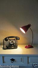 Kräusellack Schrumpf- Tisch Lampe Schwanenhals 50er Leuchte Mid century Vintage