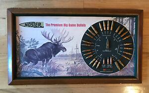 VTG Nosler Display Big Game Bullet Board With Real Bullets Moose Advertising