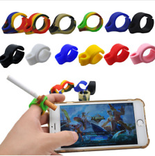 Silicone Cigarette Holder Ring Pipes Finger Hand Ring For Smoking Accessories