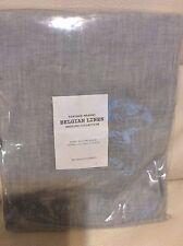 Restoration Hardware One (1) Vintage Washed Belgian Linen King Sham Shore Blue