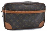 Authentic Louis Vuitton Monogram Compiegne 28 Clutch Hand Bag M51845 LV B9571
