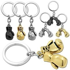 1 Schlüsselanhänger Boxhandschuh Silbern Golden Schwarz Anhänger Boxen Herren