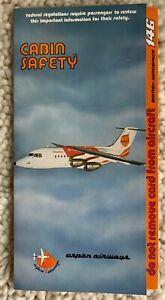 ASPEN AIRWAYS BAE 146 SAFETY CARD 1/88