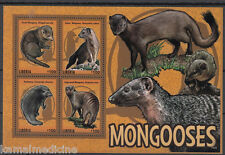 Liberia 2014 MNH SS, Wild Animals, Kusimanse, Dwarf, long Nose Mongooses (P10)