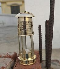 7'' SOLID BRASS VINTAGE STYLE NAUTICAL MINER LAMP - MARITIME OIL LANTERN LAMP