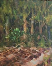 Tangle of Trees Forest Oklahoma Flint Creek Oil Painting Margaret Aycock sale
