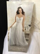 Alfred Angelo Modern Vintage Medieval Beaded Wedding Dress Style 5002 Size 6