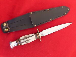J. Norwill Sheffield England SHE001 stag handle carbon steel dagger knife