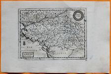 VAN DER AA Gravure originale c1725 CARTE DU POITOU Poitiers îles Yeu Ré Oléron