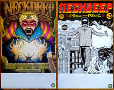 NECK DEEP Wishful Thinking & The Peace And Panic Ltd Ed New RARE 2 Posters Lot!