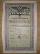 K.K Priviliegirte Allg. Österreichische Boden Credit Anstalt  2000Kr.  Wien 1912