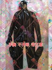 002 MEN LATEX CATSUIT FULL COVER  ZIP HIDDEN TWO CONDOM CUSTOMIZED
