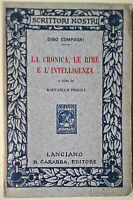 La cronica, le rime e l'intelligenza - Dino Compagni - 1911, R. Carabba - L