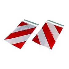 Warnflaggen für Sörensen Ladebordwand Hebebühne 400 x 250 mm