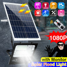 120 LED Solar Panel WIFI Flood Light Street Lamp Security Camera Outdoor Remote