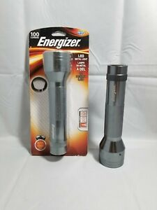 2 ENERGIZER 3-LED Metal Flashlight 100 Lumens with Batteries! Bright & Durable