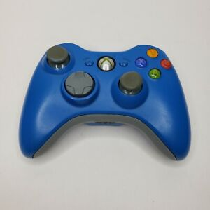 Microsoft Xbox 360 Blue Wireless Controller OEM Great Condition