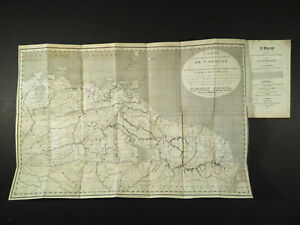 F DePons 1806 16.75x25 Map Caracas Venezuela + 3 Vol Books Voyage Terra Firma