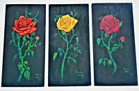 Paintings of Roses  By: Duane Davis  3 Painting Set   Painted in 1971