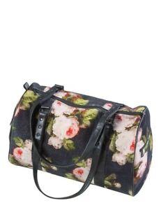 Victorian Trading NWOT Bouquet Of Roses Black & Pink Velvet Duffle Bag 43A