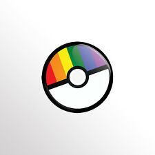 "Nintendo Pokemon (LGBT Rainbow Pride Pokeball) 1"" Pinback Button / Pins / Badge"