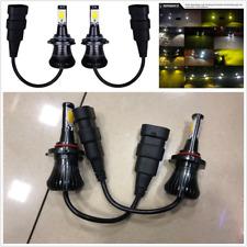 2Pcs 9005 HB3 9006 HB4 LED Fog Light Bulbs Super bright Driving Lamp Dual Color