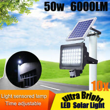 5x 128 LED Ultra Bright Solar Light Motion Detection Sensor Security Garden 50w