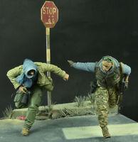 resin figures model garage kit 1:35 Battlefield soldiers 2 man RN2171 resin kit