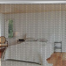 AU Aluminium Metal Chain Door Screen Curtain Fly Blinds Pest Insect Control Mesh
