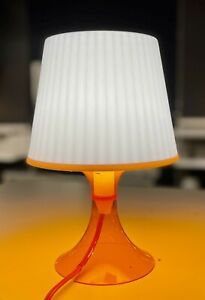 "Small ORANGE Table Lamp 11"" IKEA LAMPAN Art Deco Modern Kids Baby Bed Room NEW"