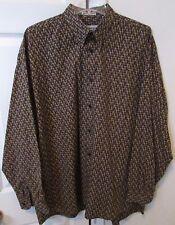 Jhane Barnes Mens Long Sleeve Shirt XL Beautiful Pattern EUC