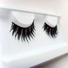 1 Pair Natural Thick Glitter Eye Lashes Makeu Long Handmade Eye Lashes Extension