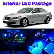 17x Blue LED Interior Lights Package for BMW E60 4dr 2004-2010 Error Free Lamps