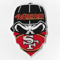 San Francisco 49ers Iron on Patches Embroidered Patch Applique Skull Mask Sew FN