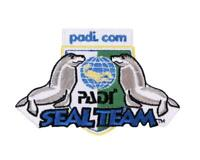 PADI Seal Team Patch (3.5 Inch) Iron/Sew On Badge Scuba Diving Kids Dive Patches