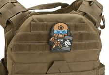 "Tan Epik Panda ""Evike Matt"" PVC Rubber Hook and Loop Morale Patch"