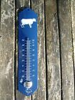 THERMOMETRE EMAILLE 30cm BLEU VACHE NEUF EMAIL VERITABLE FABR. EN FRANCE PROMO