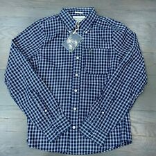 Abercrombie & Fitch New York Mens Button Down L/S Muscle Shirt Plaid M New