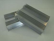 2x Aluminium-Kühlkörper v. Seifert KL-100, ca. L150 x B115 x H26 mm, Strangguß