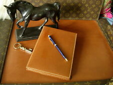 RARE Vintage GUCCI Leather Desk Organizer Tablet Notebook Agenda GG Accessory