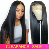 Lace Front Human Hair Wigs Glueless Straight Wig Pre plucked with Baby Hair 150%