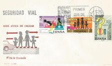 SPD FDC España Seguridad Vial 1976 Edifil # 2312/2314