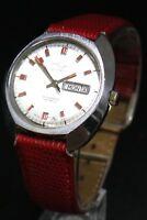 Vintage Automatic Mens Wristwatch TALIS 25 Jewel Swiss Watch Dial HAs Day & Date