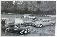 """12 By 18"""" Black & White Picture GM Line up of Cars for 1958"""