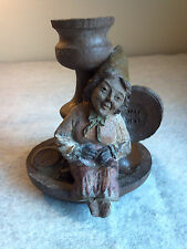 1983 TOM CLARK Mrs. WINK Gnome Edition Vintage Retired Sculpture Decor Candle