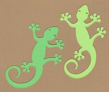 Lizard Die Cuts - Gecko Die Cuts, 4-inches long - 6 each - Scrapbooking Die Cuts